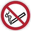 Durable Safety Signs Smoking Prohibited Red