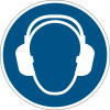 Durable Safety Signs Use Ear Protection Blue