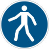 Durable Safety Signs Use Walkway Blue