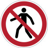 Durable Safety Signs Pedestrians Prohibited Red