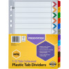 Marbig Plastic Divider A4 Reinforced 1-12 Tab Multi Colour