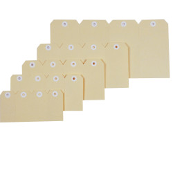 Esselte Shipping Tags No 6 67x134mm Buff Box Of 1000