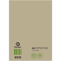 Olympic Office Pad ECO A4 7mm Ruled 50 Leaf