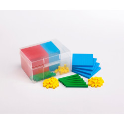 EDX Education Plastic Base Ten 4 Colour In Plastic Container
